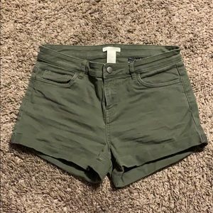 Juniors Army Green Shorts